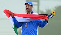 Fan favorite skeet shooter Abdullah Al-Rashidi able to celebrate Olympic bronze with Kuwait flag