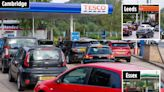 Petrol stations BLOCKED as fuel shortage fears spark panic buying