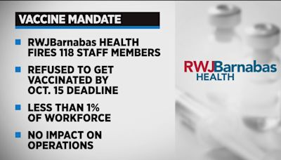 Over 100 RWJBarnabas Health Employees Fired Over COVID Vaccine Mandate