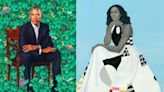 Obama portraits projected on Chicago's Merchandise Mart ahead of tour