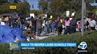 LAUSD reopening rally held in Westwood