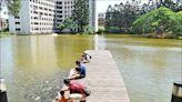 中大湖生態豐 親子享受餵魚樂