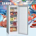 [促銷]SAMPO聲寶 170L 直立式無霜冷凍櫃 SRF-171F 髮絲銀