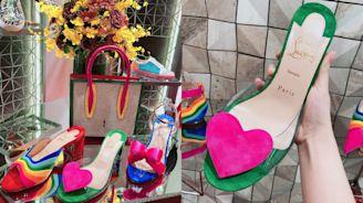 踩上這雙紅底鞋,就知道是懂穿人士!增加低跟設計,讓妳跟時尚的距離又更近一步