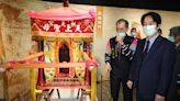 賴清德參觀白沙屯媽祖進香文化展(1) (圖)