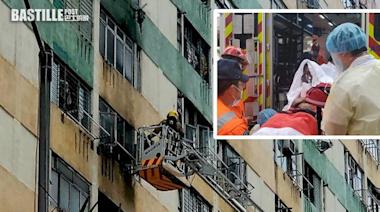 白田邨單位火警一度傳出爆炸聲 3人不適送院 | 社會事