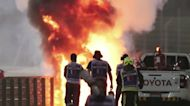 F1 driver's 'miracle' escape from fiery crash
