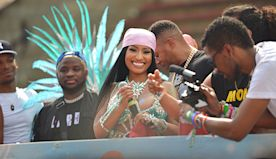 Nicki Minaj & Kenneth Petty Attend Trinidad Carnival & Cozy Up — Watch
