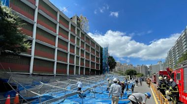 強風狂襲! 亞東醫院旁鷹架倒塌封閉1車道 | 蘋果新聞網 | 蘋果日報