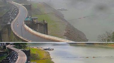 石門水庫驚人對比圖曝 10天水位狂升22公尺「淹到綠地了」