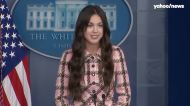 Olivia Rodrigo stops by the White House press briefing