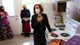 Gov. Kate Brown visits Eugene affordable housing, UO COVID-19 testing facilities