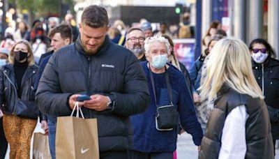 英國過去一周染疫人數較前一周上升15%