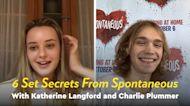 Katherine Langford and Charlie Plummer on Filming the Outrageous Scenes in New Horror-Comedy Spontaneous