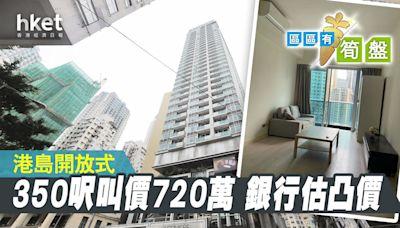 【區區有筍盤】銀行估凸價!灣仔350呎開放式 叫價720萬元 - 香港經濟日報 - 地產站 - 二手住宅 - 住宅放盤