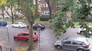 Chicago Street Swamped After Heavy Rain