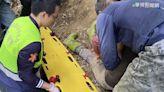 天降橫禍! 200公斤巨石砸落 農婦慘斷腿