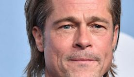 "Brad Pitt Joke About Tinder & Playing Guy Who ""Doesn't Get On With His Wife"" After SAG Awards Win"