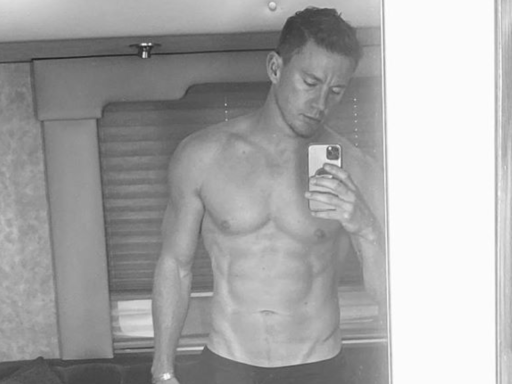 Channing Tatum posts shirtless selfie, declares that 'daddy is finally back'