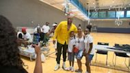 PJ Tucker celebrates NBA Championship at Chavis Park