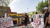 Little Village community members demand a stop to surveillance of Black and Brown communities