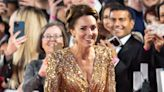 Kate Middleton goes glam in gold at 'No Time to Die' premiere
