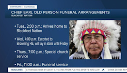 Memorial arrangements for Chief Old Person