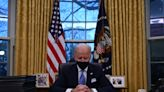 Photos show how Biden replaced Trump's Oval Office decorations with symbols of American icons