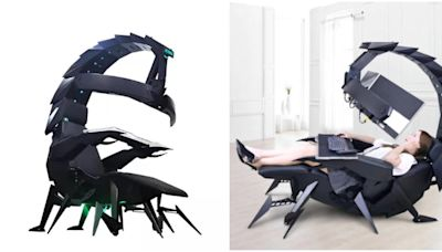 懶人都該有一張!超舒適「巨大蠍子躺椅」夢幻上市 170度扭轉「躺著就能玩電動」貼心功能數不完