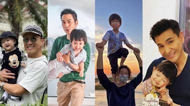 TVB當紅男星們慶祝父親節,陳展鵬父愛滿滿,鄭嘉穎有仔萬事足