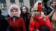 Rosanna Arquette and Rose McGowan speak at the courthouse as Harvey Weinstein rape trial begins