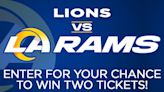 Enter for your chance to win a pair of tickets to see the Rams vs Lions at SoFi Stadium!