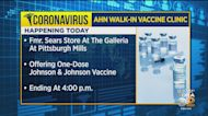AHN Offering Johnson And Johnson Vaccine Clinic At The Galleria At Pittsburgh Mills
