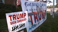 Vandals target Havertown, Pennsylvania man's Trump yard signs