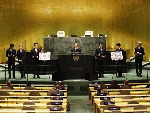 BTS再登聯合國會議廳 為全球年輕世代發聲