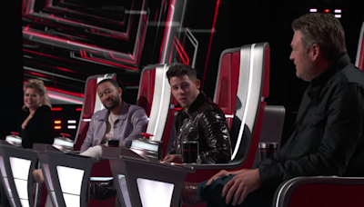 'The Voice' Sneak Peek: A Stunning 4-Chair Turn Pits the Coaches Against 'Cowboy' Blake Shelton