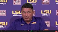WATCH NOW: Ed Orgeron and LSU players react to LSU's 49-42 win over No. 20 Florida
