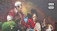 Graffiti Artist Pays Tribute to Frontline Health Care Workers