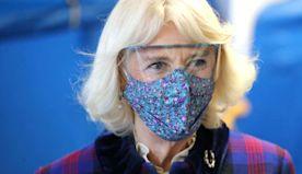 Royals wearing face masks