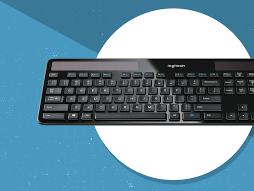 Let there be light! This Logitech solar-powered keyboard is on sale for $46
