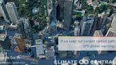 氣候組織模擬全球升溫!升3度淹香港 中環海濱退至滙豐總行│TVBS新聞網