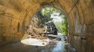 新竹「光明隧道」邊坡坍塌 隧道雙向暫時封閉
