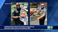 Fairfield police finish Mother's Day flower deliveries after suspected DUI arrest