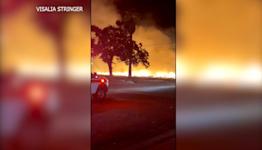 Fire tears through Visalia apartment building