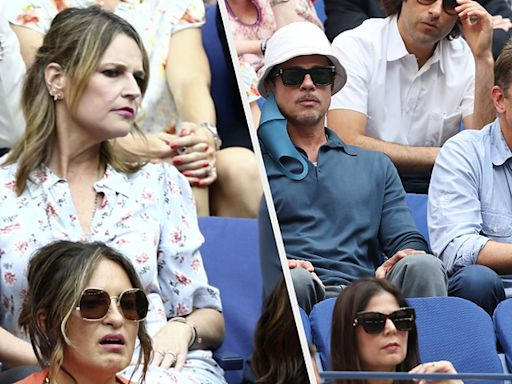 ... Guthrie Was So Excited To Sit Beside Brad Pitt And Bradley Cooper At The US Open, She ...