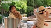 崔智友晒與1歲囡囡戶外露營照 享受做母親樂趣   心韓