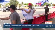 Rally held in Palm Beach County to support Cuban people amid protests