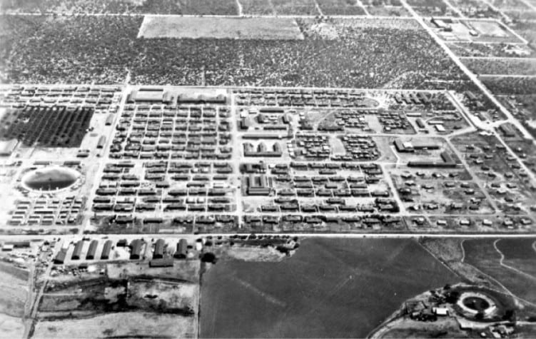 ... view of Crystal City Internment Camp, Crystal City, Texas, 1944-45