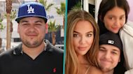 Rob Kardashian Appears In Rare Photo With Sisters Khloé Kardashian & Kylie Jenner