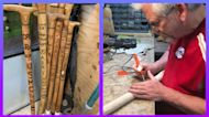 Veteran Gives Back By Making Free Custom Canes For Vets
